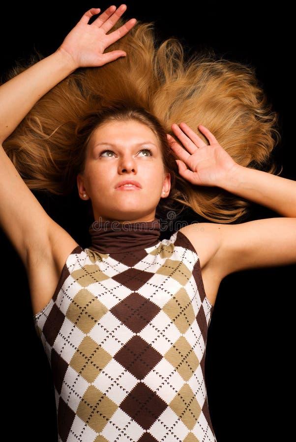 Girl On The Floor Stock Photography