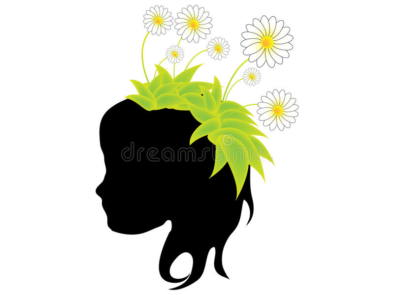 Download Girl with flower stock vector. Illustration of enticement - 17939825