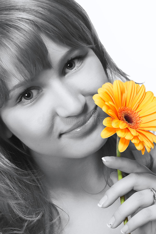 Download Girl With Flower Stock Photo - Image: 2324970