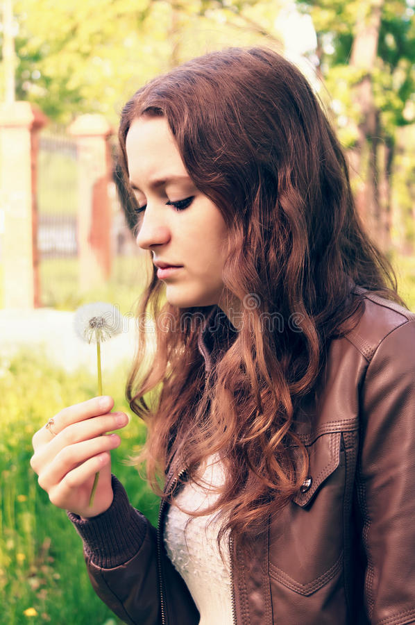 Download Girl with flower stock image. Image of urban, beauty - 25282613