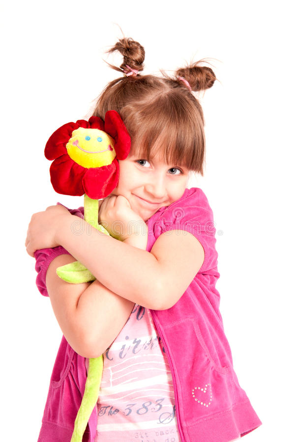 Download Girl with flower stock image. Image of daughter, hold - 25347045