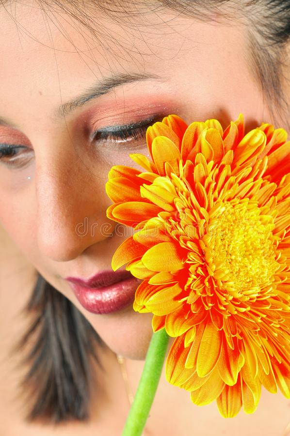 Download Girl with flower stock photo. Image of smile, natural - 8454068