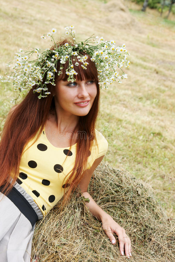 Download Girl In Flower Garland Royalty Free Stock Photos - Image: 10602038