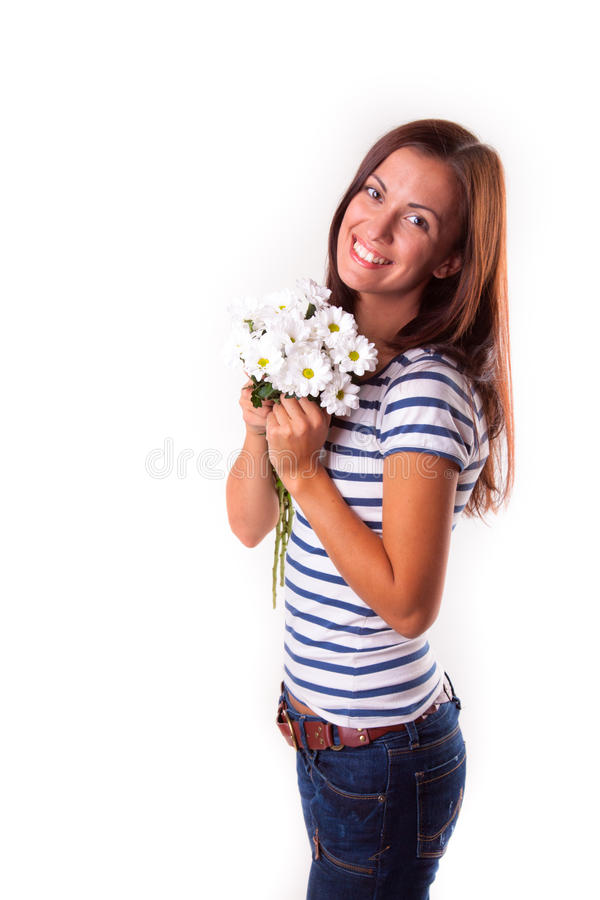 Download Girl with flowers stock photo. Image of individuality - 23570482