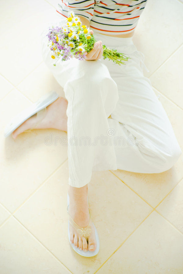 Download Girl And Flowers Royalty Free Stock Photo - Image: 2713345