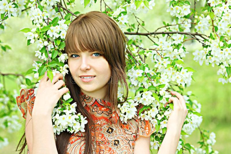 Download Girl among flowers stock photo. Image of love, friendly - 9730834