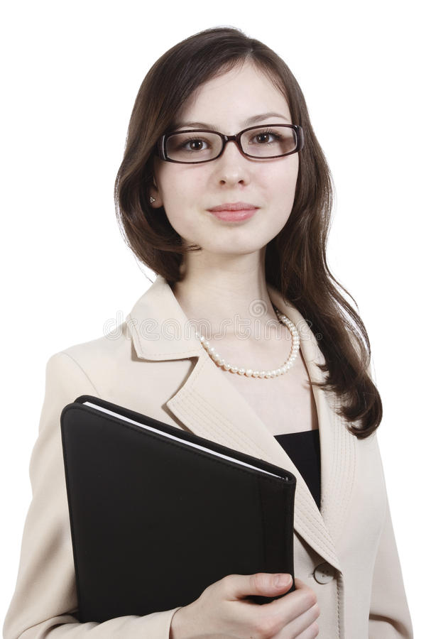 Download Girl with folder stock photo. Image of education, businesswoman - 13892392