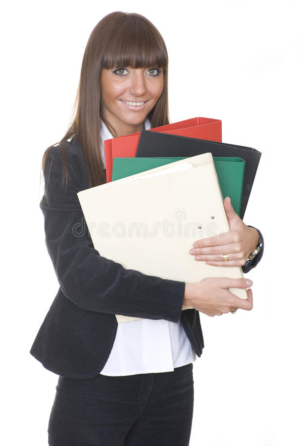 Download Girl with the folder stock image. Image of looking, colleague - 14734243