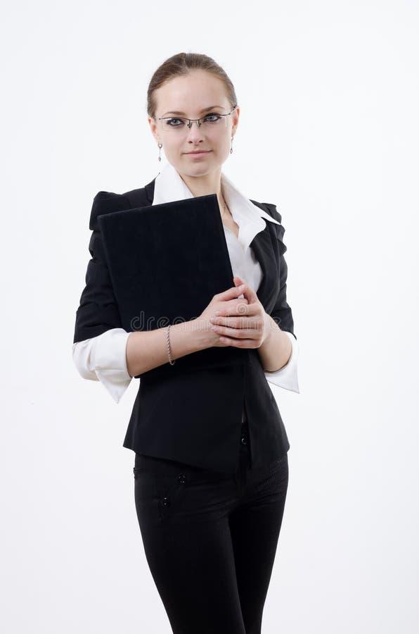 Girl with a folder royalty free stock photos