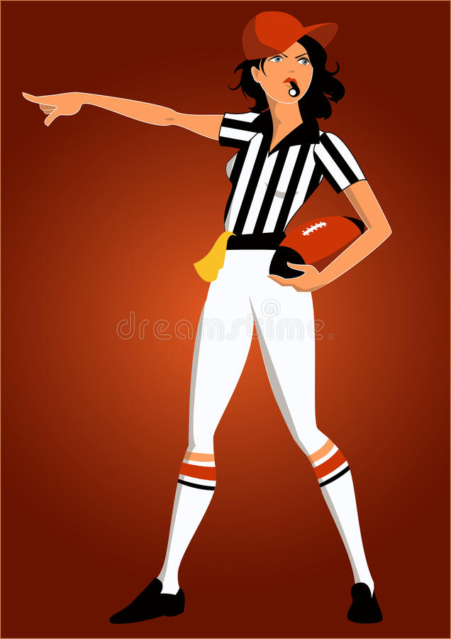 Download Girl football referee stock vector. Illustration of lifestyle - 29690938