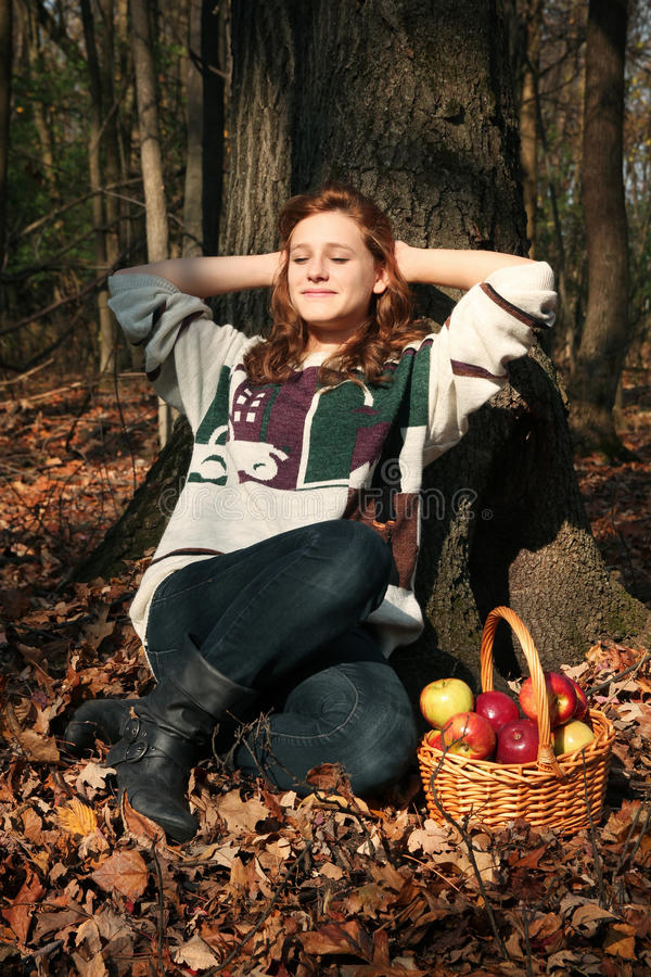 Download Girl In A Forest Stock Photography - Image: 27751772