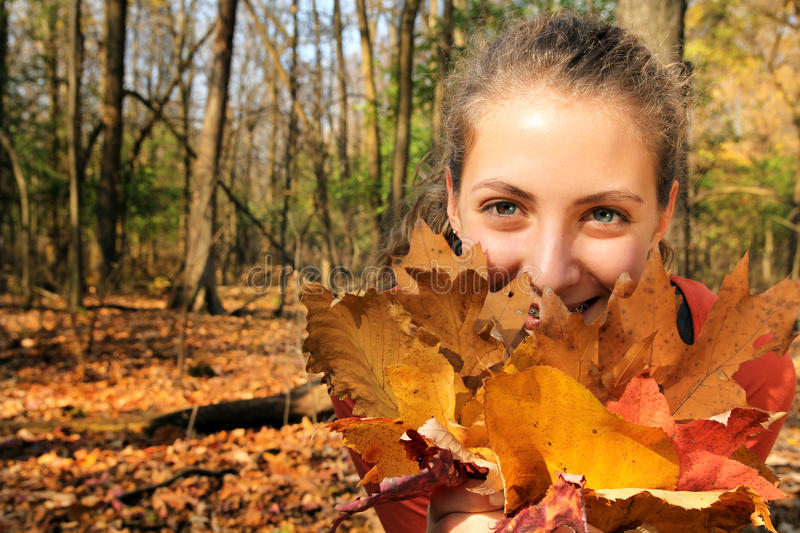 Download Girl in a forest stock photo. Image of basket, lifestyle - 27756552
