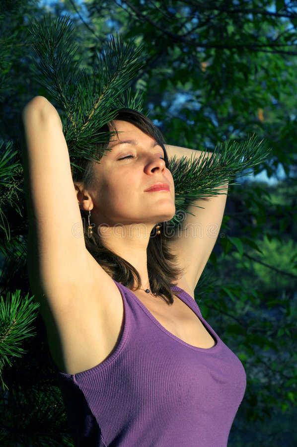 Download Girl And Forest Royalty Free Stock Photography - Image: 3074077