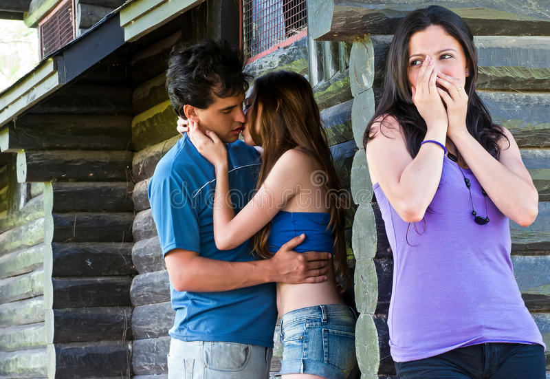 Download The Girl Found Best Girlfriend With Guy Stock Photo - Image: 18812580