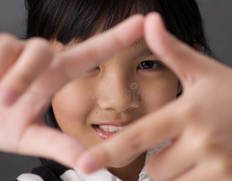 Girl Framing Stock Photo