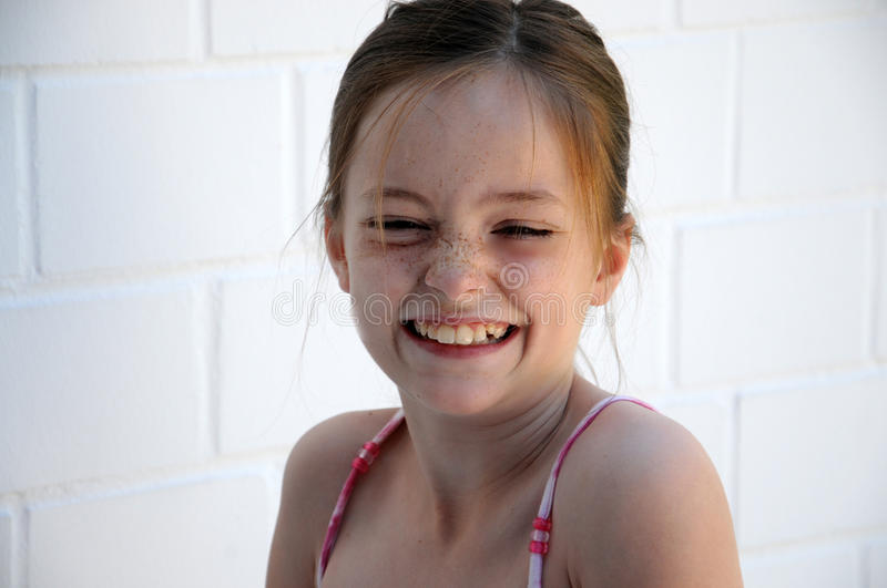 Girl with freckles royalty free stock images