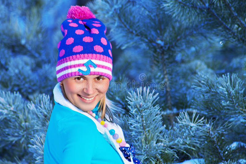 Download Girl In Freeze Forest Stock Photos - Image: 29049453