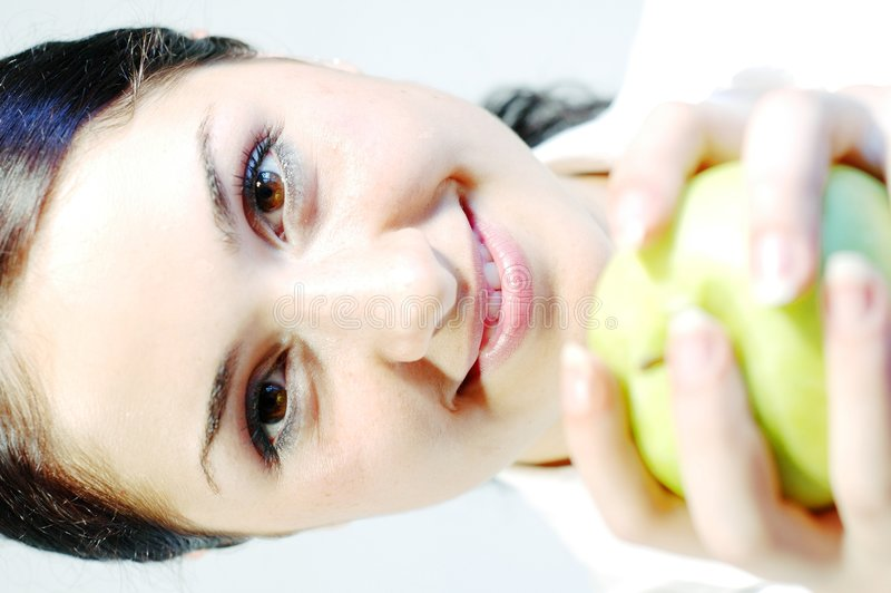 Download Girl With Fresh Apple 3 Royalty Free Stock Photos - Image: 246688