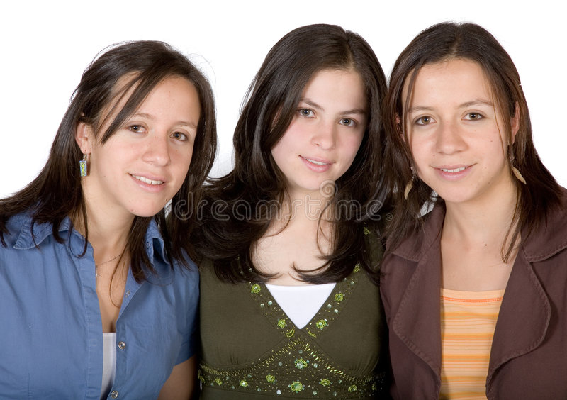 Download Girl friends stock photo. Image of heads, jeans, festive - 1564628