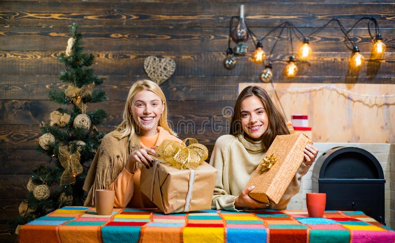 Girlfriends At Christmas Party Stock Image - Image of ...