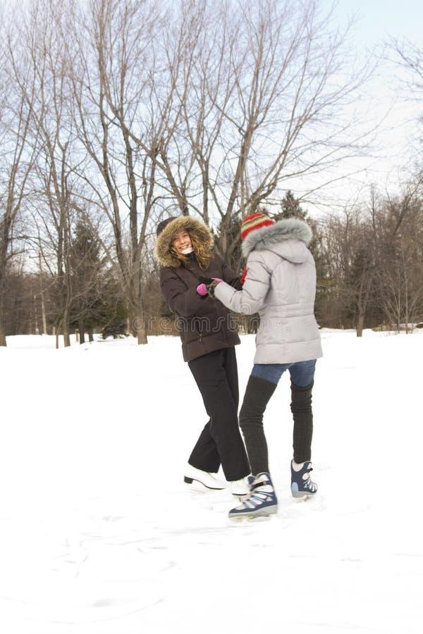 Download Girl friends skating stock image. Image of skater, teenager - 18810429