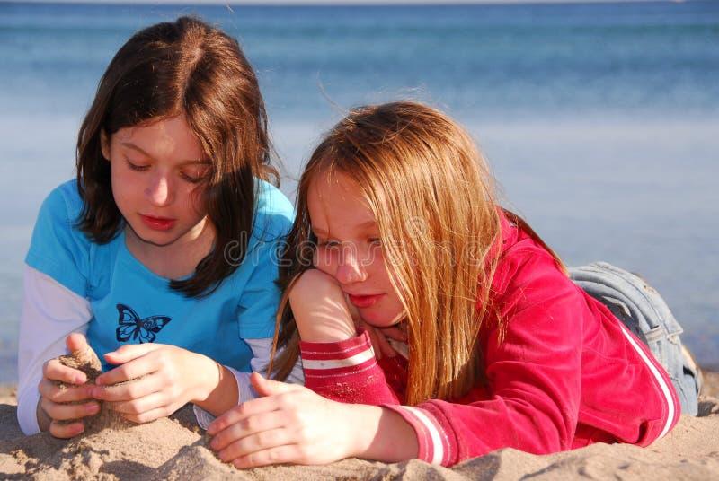 Download Girl friends talking stock photo. Image of blonde, ocean - 762100