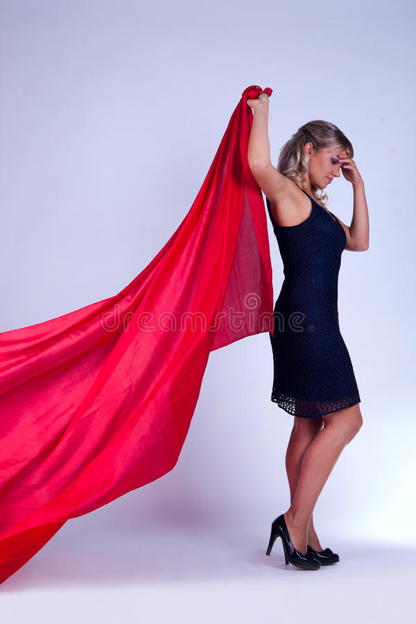 Download Girl in a full-length stock photo. Image of studio, blond - 24519852
