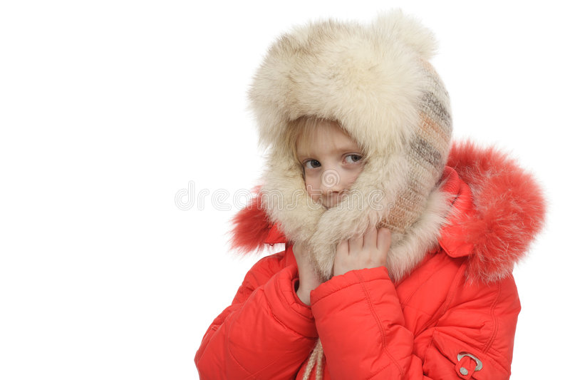Download The Girl In A Fur Cap Royalty Free Stock Image - Image: 7460356