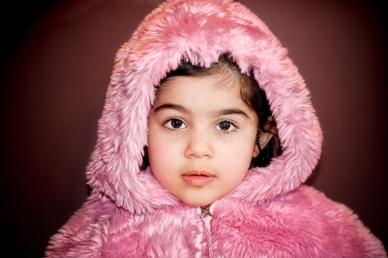 Download Girl in furry jacket stock image. Image of grin, angel - 4653569