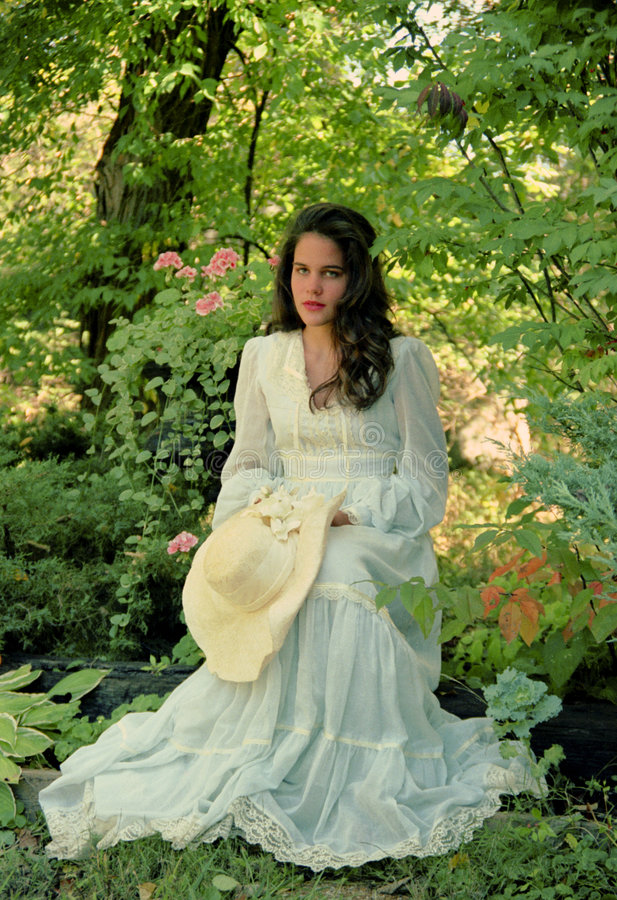Download Girl in the Garden stock image. Image of girl, innocent - 4273347