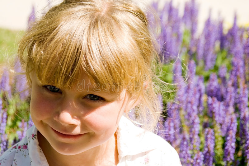 Girl in a Garden royalty free stock photos