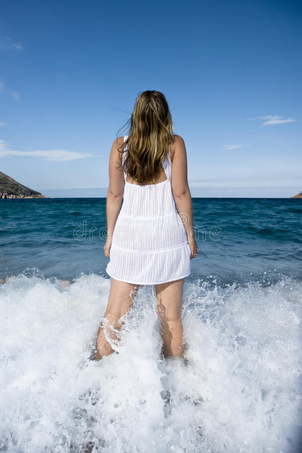 Download Girl Gazing Into The Sky Stock Images - Image: 11991184