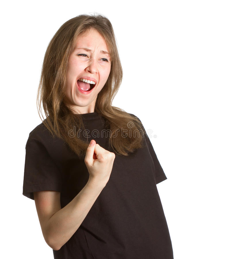 Download Girl Gesture Success Isolated Copy Space Stock Photo - Image: 32413494