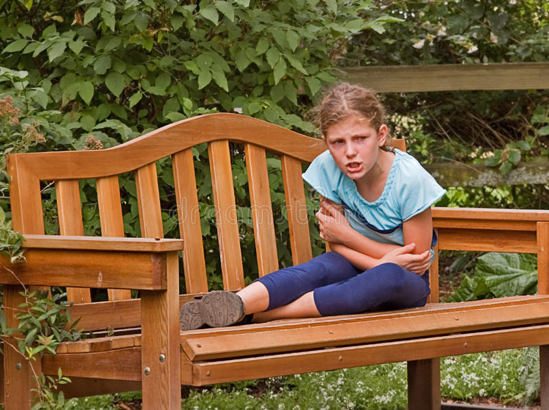 Download Girl Getting Angry On Park Bench Stock Photo - Image of upset, person: 10836986