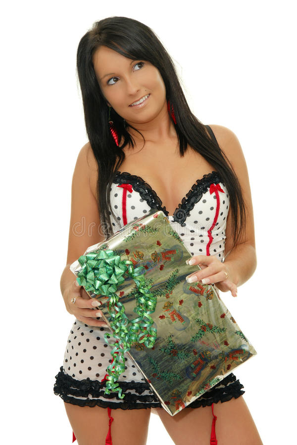 Download Girl with gift stock image. Image of holding, looking - 22292985