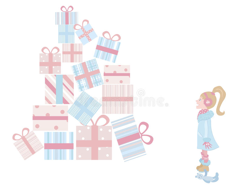 Girl and gifts