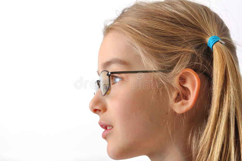 Download Girl with glasses stock photo. Image of adorable, cheerful - 26571662