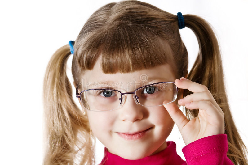 Girl in glasses royalty free stock photography