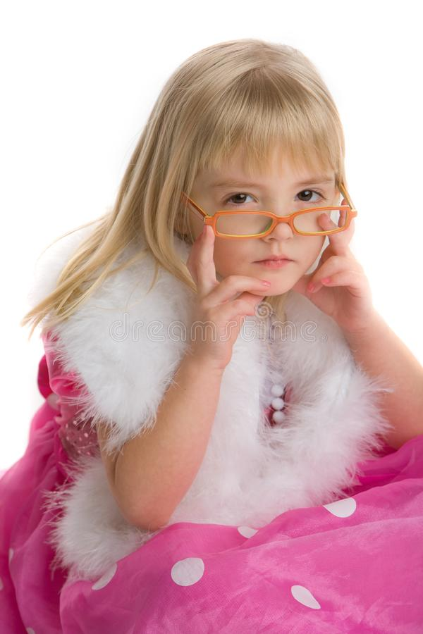 Download Girl with glasses stock image. Image of scarf, face, dress - 7944147