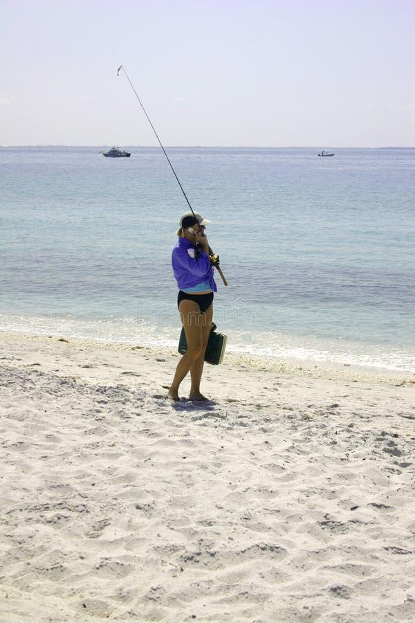 Girl going fishing