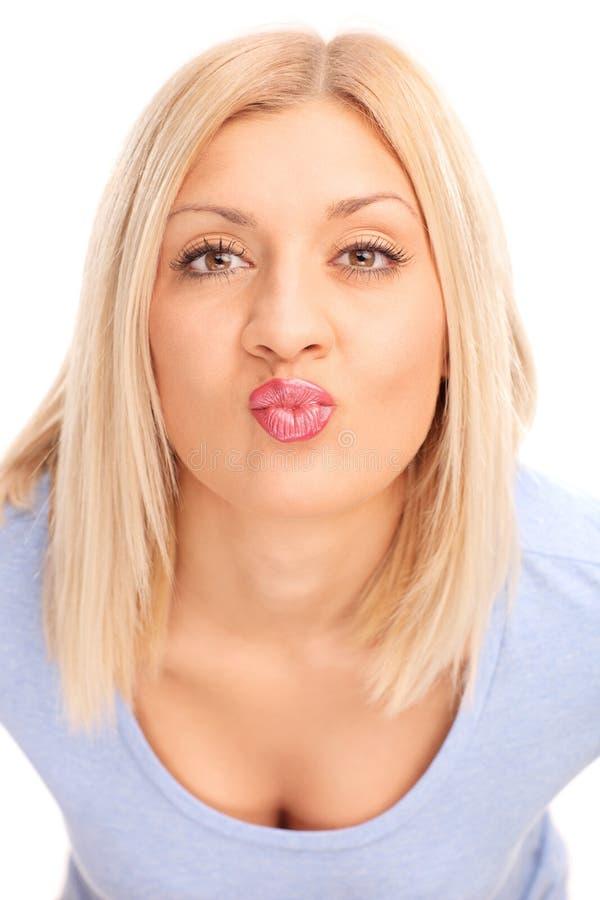 Italian women kissing the camera #3