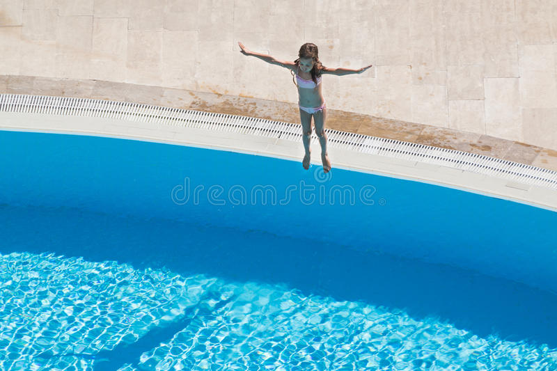 Download A girl  going to jump stock image. Image of leisure, bright - 31682337