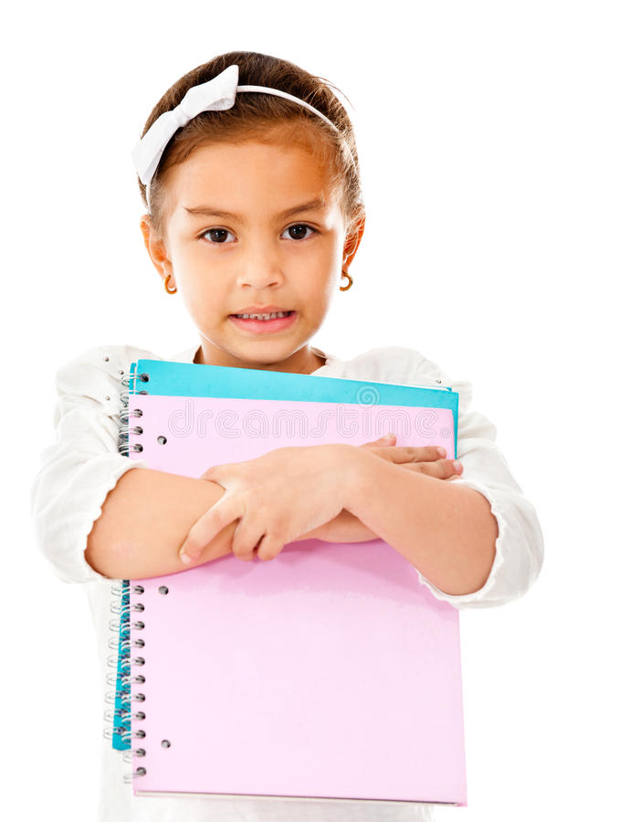 Download Girl going to school stock photo. Image of cute, academic - 23941680