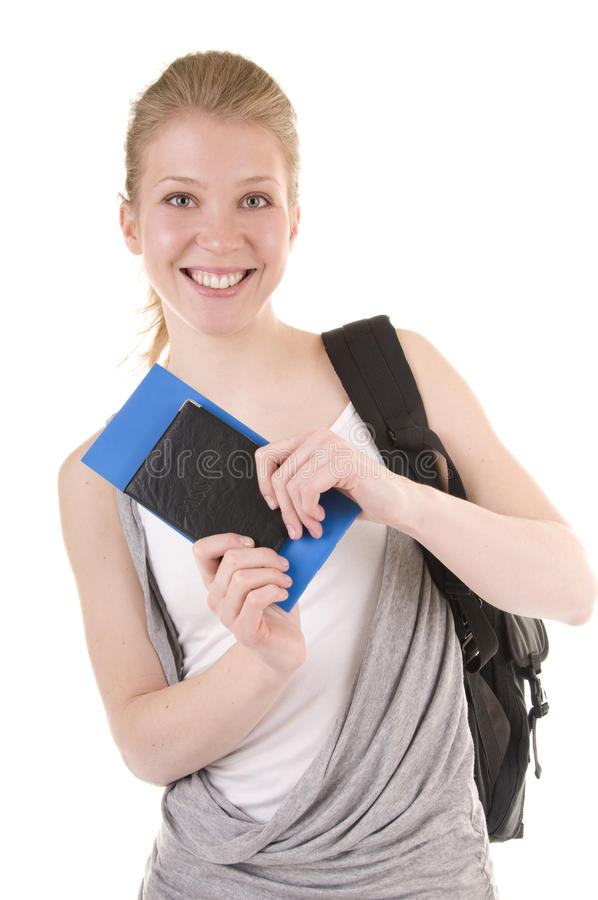Girl Going On Vacation royalty free stock image