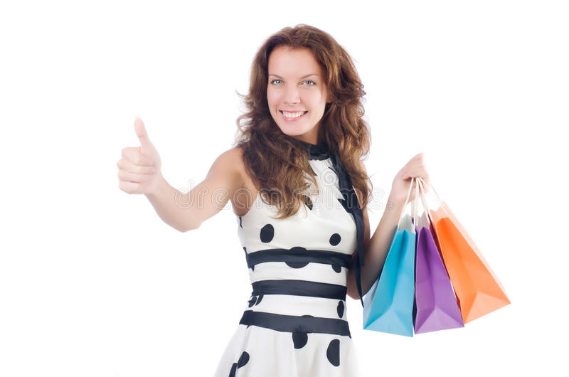 Download Girl After Good Shopping Royalty Free Stock Photos - Image: 34469038