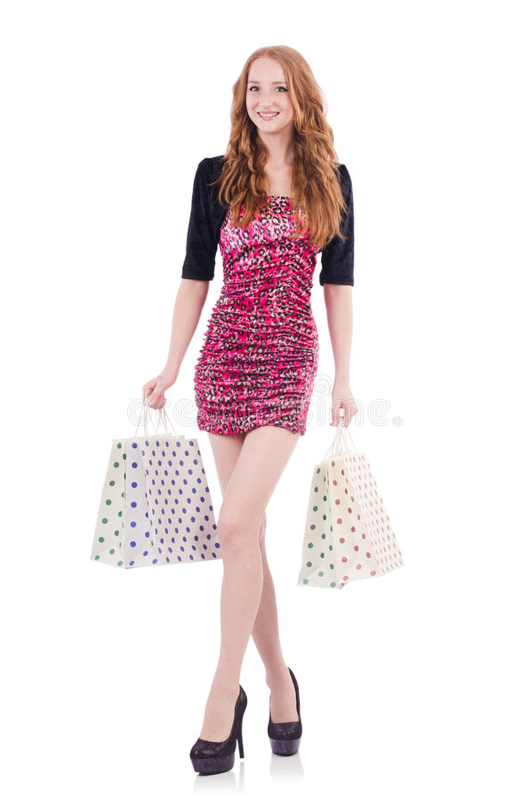 Download Girl after good shopping stock photo. Image of holding - 36986380