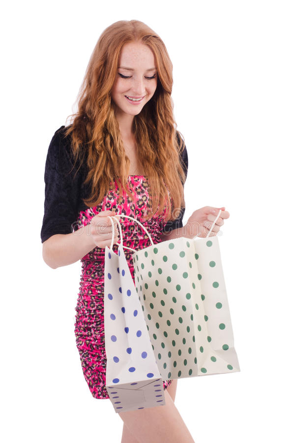 Download Girl after good shopping stock photo. Image of attractive - 36986482