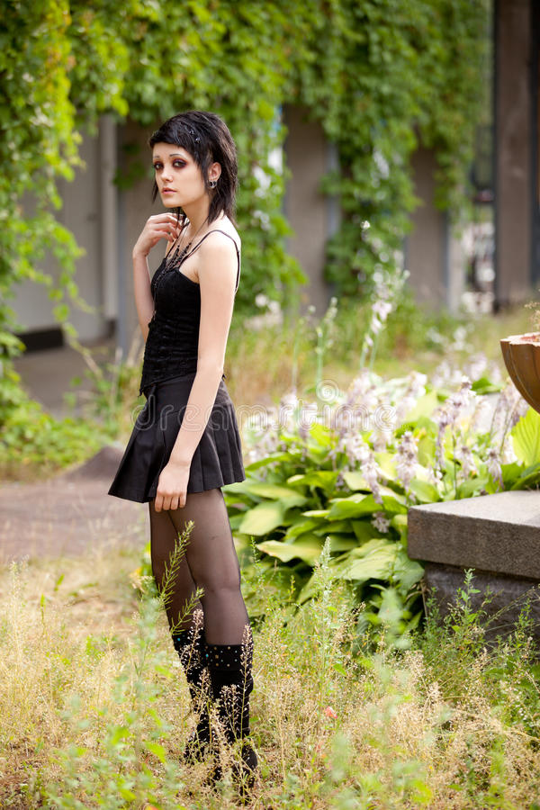 Download Girl in gothic style stock photo. Image of tatu, green - 15884248