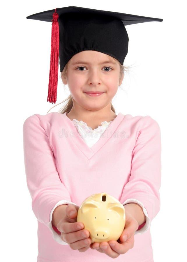 Girl in graduation cap royalty free stock image