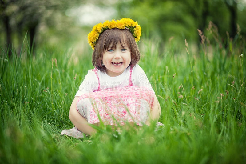 Download Girl in green grass stock photo. Image of outdoors, portrait - 24820858